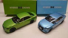 RARE! Toyota 1/30 CROWN ATHLETE Sky blue x bright green 2pcs set  From Japan 292 #Toyota #Toyota