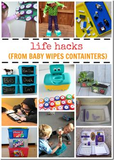 17 Clever Hacks with Baby Wipe Containers - super clever ideas for moms with lots of practical uses for kids stuff