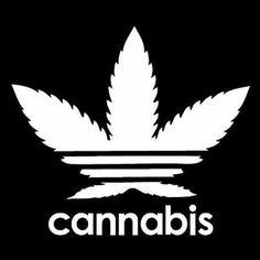 Cannabis Addidas Pot Leaf - T-Shirt or Tank Top -- American Apparel Addidas Shirts, Marijuana Art, Stoner Art, Weed Art, Graffiti Alphabet, Trippy, Swagg, Cool Art, Art Drawings