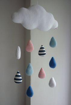 Rain Cloud, decorative baby mobile
