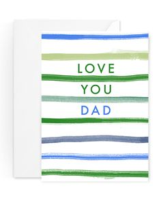 Simple Stripe Father's Day Card