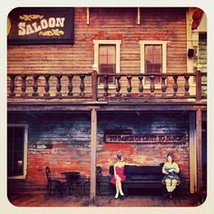 Saloon Girls Knotts berry farm  vacation with family
