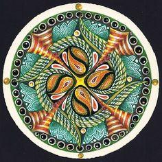 Zendala in color by Certified Zentangle Teacher Margaret Bremner