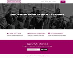 Action Horizon Institute empowers youth to design their own future by transforming social problems into economic opportunities. Opportunity, Youth, How To Apply, Action, Future, Design, Group Action, Future Tense