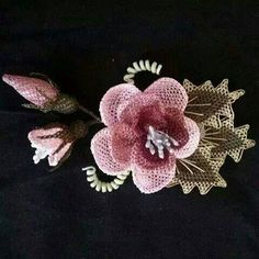 Needle Pattern Models with Picture Diy Flowers, Crochet Flowers, Crochet Brooch, Brazilian Embroidery, Needle Lace, Lace Making, Tatting, Stitch Patterns, Pictures