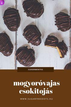 Gluténmentes, cukormentes mogyoróvajas csokitojás gyorsan, egyszerűen, pár hozzávalóból. Sugar Free, Cookies, Chocolate, Desserts, Recipes, Food, Crack Crackers, Tailgate Desserts, Deserts