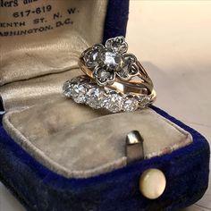 Victorian and Georgian diamond rings