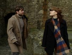 "Roger Wakefield (Richard Rankin) and Brianna Randall (Sophie Skelton) in Episode 213 ""Dragonfly In Amber"" Outlander Season Two Finale on Starz via https://outlander-online.com/"