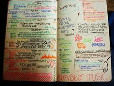 april 20th - 26th by little battle, via Flickr / DIY weekly planner / moleskine / colorful pens / organization