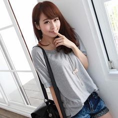 Short-Sleeve Ribbed-Trim Top from #YesStyle <3 eFashion YesStyle.com