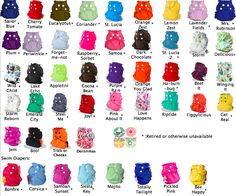 : AppleCheeks Colour Chart