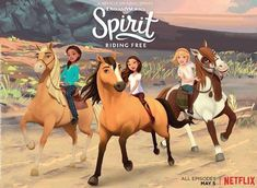 """The Season of """"Spirit: Riding Free"""" Is On Netflix Dreamworks, Caballo Spirit, Spirit And Rain, Kiger Mustang, New Movies Coming Out, Horse Wallpaper, Star Stable, Horse Party, Horse Birthday"""