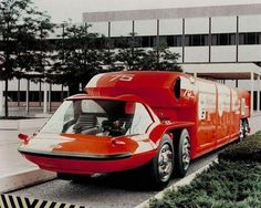 1964 General Motors Bison Concept: The Future Looked So Awesome! General Motors, Cool Trucks, Big Trucks, Colani, Weird Cars, Vintage Trucks, Station Wagon, Automotive Design, Hot Cars