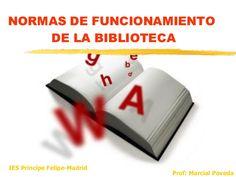 Normas, funcionamiento, política de préstamos, servicios de la biblioteca