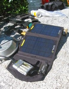 solar charger (with usb power pack)
