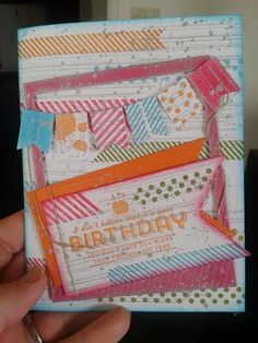 Birthday Card with silver ink pad