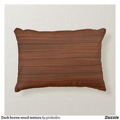 Dark brown wood texture accent pillow Soft Pillows, Accent Pillows, Throw Pillows, Brown Wood Texture, Brown Cushions, Christmas Card Holders, Keep It Cleaner, Dark Brown, Fiber