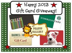 As a way of saying thanks for all of the support and kindness in 2012, I am having a gift card giveaway on my blog. Stop over for your chance to win gift cards for Barnes and Noble, Hobby Lobby, Target, and Starbucks in addition to items from my TpT shop! Happy holidays from The Peanut Gallery!