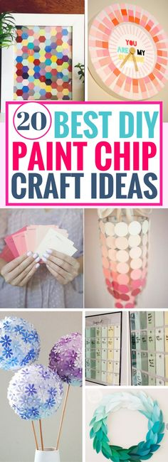 I'm so in love with these awesome DIY Paint Chip Crafts. From pretty decor projects to useful calendar ideas and so much more! Can't wait to try out the rest of the paint chip ideas. The diy wreath is brilliant!