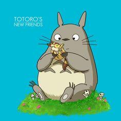 Kitty and Totoro