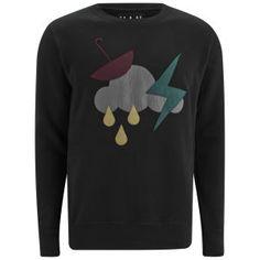 What is it with graphics and sweatshirts being the perfect combo? Han Kjobenhavn Men's Crew Neck Storm Sweatshirt - Black