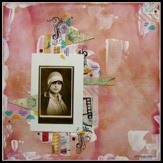 Babička_gesso Polaroid Film, Plastering