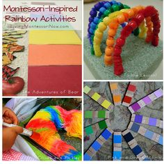 Roundup of Montessori-inspired activities based on the popular color-naming book Brown Bear, Brown Bear, What Do you see? A variety of activities for toddlers and preschoolers - Living Montessori Now Preschool Colors, Preschool Themes, Preschool Classroom, Preschool Crafts, Kindergarten, Future Classroom, Montessori Activities, Toddler Activities, Preschool Activities