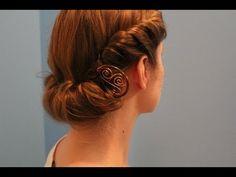 "? Rainy Day ""Roll & Tuck"" Hairstyle. 1940s/Edwardian theme! - YouTube(Victorian Hair Tutorial)"