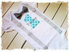 BOYS FIRST BIRTHDAY OutfitChevron Birthday by BetterThanBows