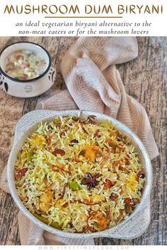 Vegetarian Biryani, Vegetarian Platter, Vegetarian Recipes, Vegetarian Thanksgiving, Good Food, Yummy Food, Delicious Recipes, Dum Biryani, Side Dish Recipes