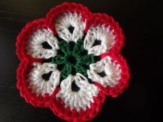 Crochet Motif, Crochet Flowers, Textiles, Crochet Accessories, Crochet Earrings, Crochet Jewellery, Diy And Crafts, Red And White, Projects To Try