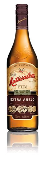 Matusalem Extra Añejo - Matusalem Extra Añejo Rum is a blend of the finest aged rums. This is a delicious and very refined rum, with great character and ideal for mixed drinks. A sure bet for the young and trendy. Its flavor and smoothness will earn the affection of rum lovers and novices alike. This elegant and sophisticated rum is competitively priced to compete in the high-volume segment of quality aged rums. (Not Available in the USA) (tasting notes...)