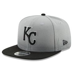 aa70acaf50f244 Kansas City Royals New Era Flow Team 9FIFTY Adjustable Snapback Hat -  Gray Black