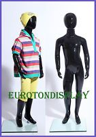 Kids doll XB - 4 H black painted abstract Display Dummy Mannequin 49.2in