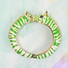 Green zebra bracelet