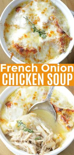 Frugal Food Items - How To Prepare Dinner And Luxuriate In Delightful Meals Without Having Shelling Out A Fortune French Onion Chicken Soup Foodtastic Mom Onion Soup Recipes, Easy Soup Recipes, Cooking Recipes, Healthy Recipes, Chicken Recipes, Recipes Dinner, Vegetarian Recipes, Chili Recipes, Delicious Recipes