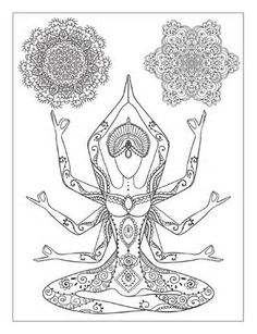 this is a free preview of the book yoga and meditation coloring book for adults - Yoga Anatomy Coloring Book