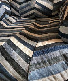 "Meri Weckman sanoo Instagramissa: ""💙💙💙 #oldjeansnewlife #denim #upcycling #recycling #diyfurniturecover #diy #diyhome #homedecor #armchair #ikeahack #oldjeans…"" Diy Furniture Covers, Old Jeans, Ikea Hack, New Life, Plaid Scarf, Upcycle, Armchair, Recycling, Denim"