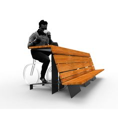 Urban Furniture, Street Furniture, Furniture Design, Rack Velo, Bicycle Cafe, Eco Design, Bicycle Stand, Public Space Design, Small Apartment Design