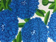"Marimekko ""PRIMAVERA"" new thick cotton fabric size 75 cm x 145 in bright blue in Crafts, Sewing & Fabric, Fabric | eBay"