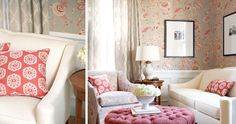 Add to Style File Femininity at its finest Decorating with shades of pink brings an air of femininity and girlish charm to any room.  But this room, with it's unique mix of pinks, creams, grays, and a little black, is sophisticated too. (We imagine Kate Middleton's sitting room, or similar British elan.) To get this …