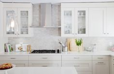 New organic white countertops in the kitchen from Caesarstone to tie everything together and brighten it right up. Kitchen Cabinet Styles, Kitchen Redo, Kitchen Tiles, Home Decor Kitchen, Kitchen Interior, New Kitchen, Kitchen Dining, Kitchen Remodel, Kitchen Cabinets