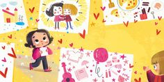 People Illustration, Children's Book Illustration, Character Illustration, Illustration Children, Teacher Cartoon, Design Comics, Character Design Girl, Children's Picture Books, Posca