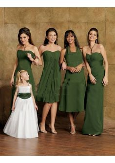 For the camo wedding theme like the idea of the bridesmaides finding thier own style of dress but all same color