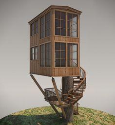 Treehouse Plan No. 10: Hamma Hamma designed by Pete Nelson – Be in a Tree