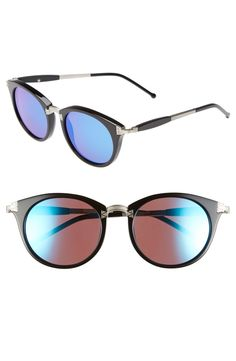 cheap ladies oakley sunglasses  free shipping and returns on wildfox 'sunset deluxe' retro sunglasses at retro chic mixed media sunglasses outfitted with mirrored lenses add a dynamic