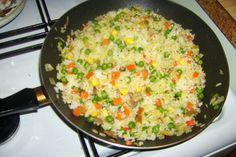 Warzywa na patelnię z ryżem