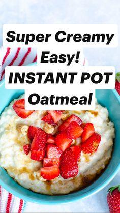 Instant Pot Pressure Cooker, Pressure Cooker Recipes, Slow Cooker, Snacks Saludables, Crockpot, Breakfast Recipes, Oatmeal, Salads, Recipies
