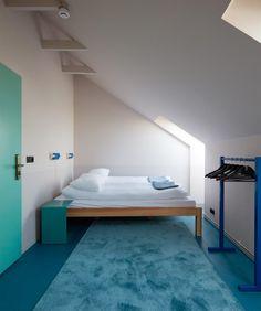 Icelandic design studio Döðlur has paired design pieces with custom-made furniture inside this hotel-cum-hostel on Reykjavik's waterfront Design Hotel, Design Studio, Interior Design Magazine, San Jose, Bungalow, Diy Originales, Warehouse Design, Hotel Concept, Custom Made Furniture