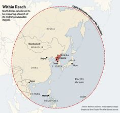 Range of the Musudan missile that North Korea is prparing to launch: